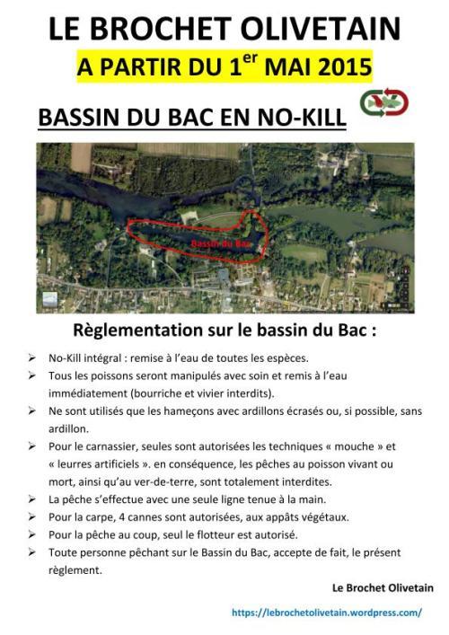 Réglementation du bassin du bac en no-kill...